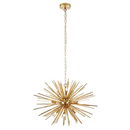 Orta Ceiling Pendant Light with Gold Effect Metal Spikes