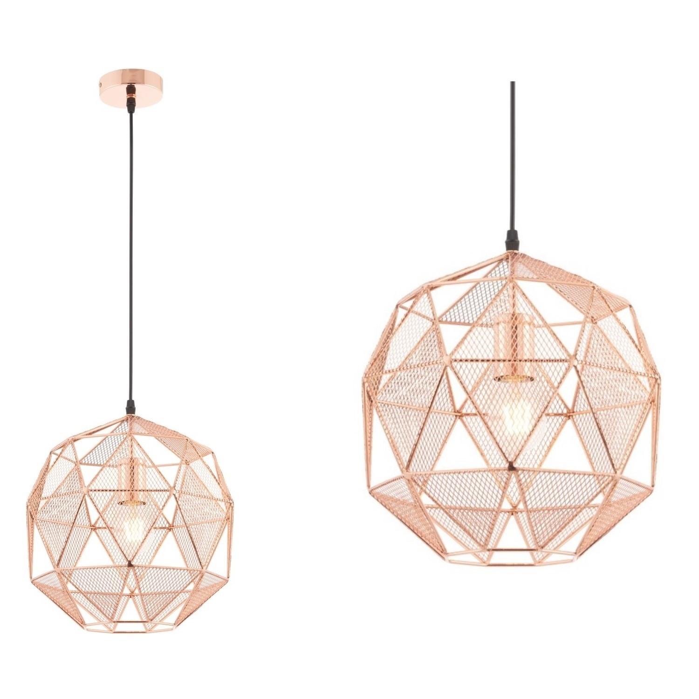 Rose Gold Geometric Pendant Light Armour Furniture123