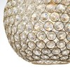Gold Pendant Light with Brass Plate & Clear Crystals - Claudia