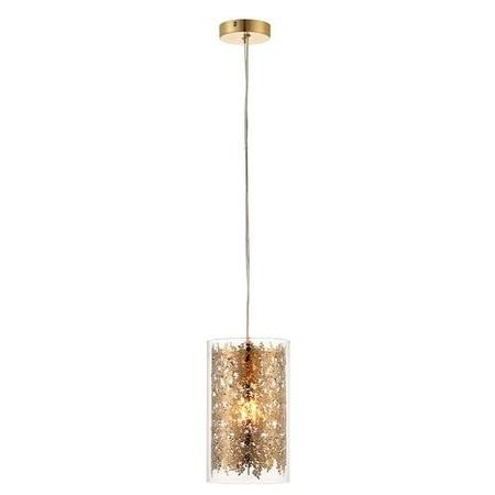 Lacy Leaf Design Ceiling Pendant Light in Brass