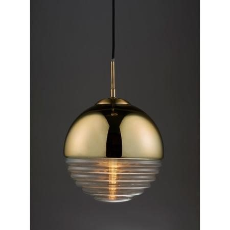 Paloma Ceiling Pendant Light with Gold Effect & Glass Finish