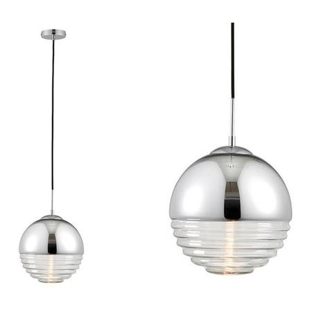 Paloma Ceiling Pendant Light with Chrome & Glass Finish