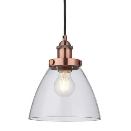 Copper & Glass Pendant Light  - Hansen Range