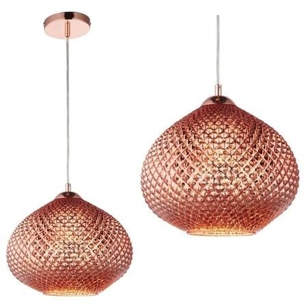 Livia Ceiling Pendant Light with Copper Glass Finish - Modern Style
