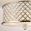 Hudson Semi Flush Ceiling Light in Chrome with Clear Crystal Glass Finish