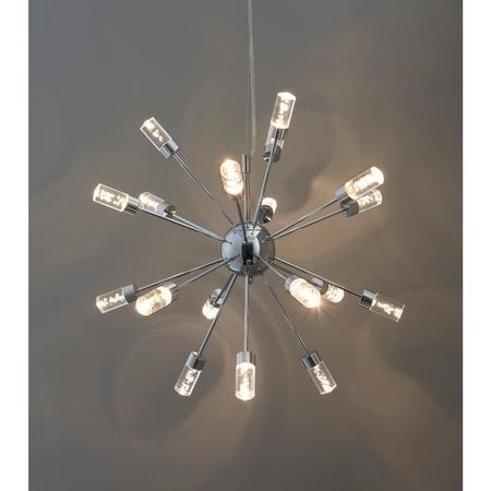 Chrome Ceiling Pendant with 18 Lights & Bubble Effect - Glacier