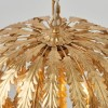 Delphine Pendant Light with Gold Leaf Design Shade