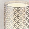 Gilli Nickel and White Linen Table Lamp