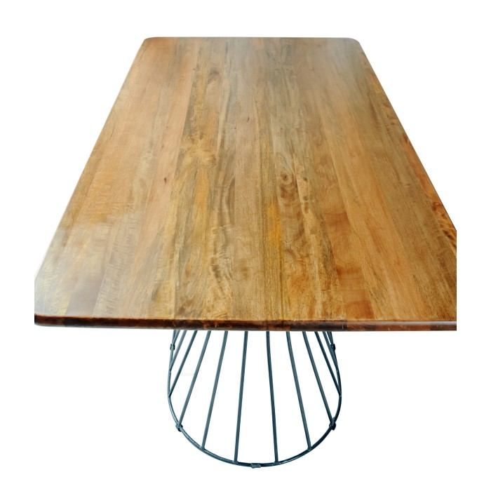 Vedel Industrial Loft Zinc Wood Rectangle Coffee Table: Signature North Solid Wood Industrial Rectangular Dining