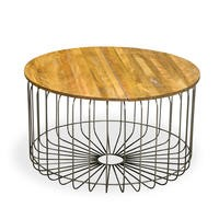 Signature North Aiden Loft Solid Wood Round Coffee Table