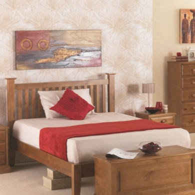 Heritage Furniture Hendon Solid Pine Double Bed Frame