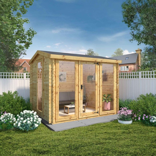 Mercia Studio 3m x 2.5m 19mm Log Cabin