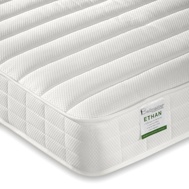 Pair of Ethan Luxury Quilted Coil Sprung Single Mattress - Medium Firmness
