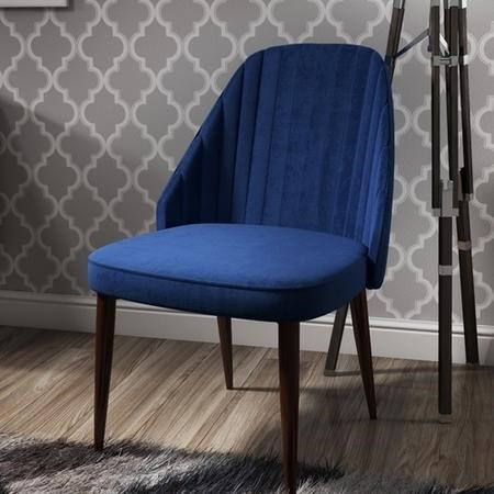 Greenwich Upholstered Occasional Chair In Blue Velvet