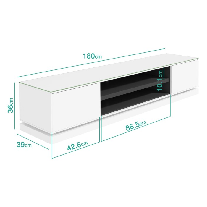 Tv Tables Menard High Gloss Tv Unit: Evoque White High Gloss TV Unit Stand With LED Lighting