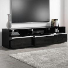 caacc58b793 Neo Black High Gloss XL TV Unit with Sound Bar Shelf