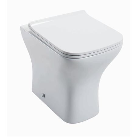 Lavender Back to Wall Toilet with Slimline Soft Close Seat