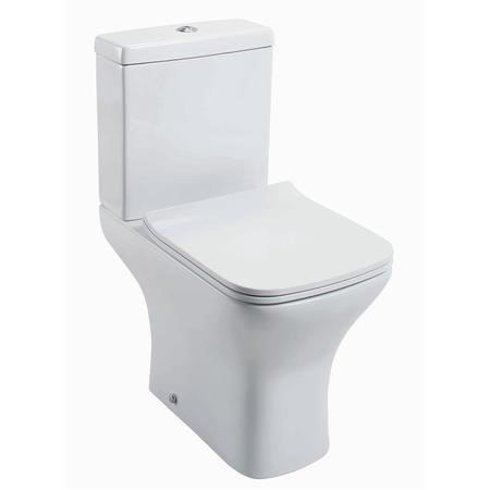 Lavender Compact Close Coupled Toilet with  Slimline Soft Close Seat