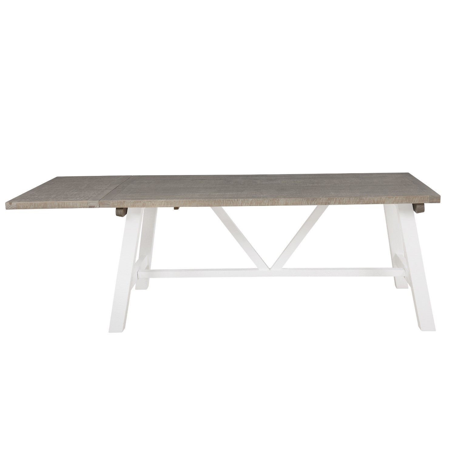 Picture of: Wood Extendable Dining Table In White Wood Wash Fawsley Furniture123