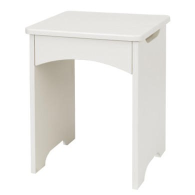 One Call Furniture Flute Stool in Textured Ivory