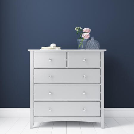 Finch 2+3 Chest of Drawers in Light Grey