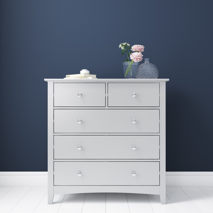 Fenton 2 3 Chest Of Drawers In Light Grey Furniture123