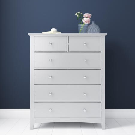 Finch 2+4 Chest of Drawers in Light Grey