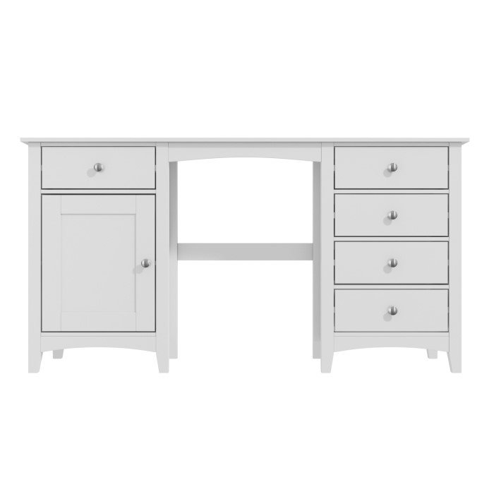 Fenton 5 Drawer 1 Door Dressing Table In Light Grey Furniture123