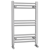Chrome Bathroom Towel Radiator - 800 x 500mm - Round Rails