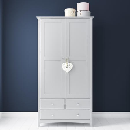 Finch Combi 2 Door 3 Drawer Wardrobe in Light Grey