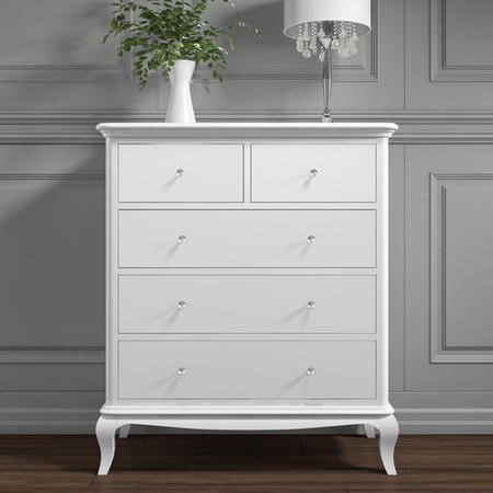 Florentine French Style 2+3 Chest of Drawers in White