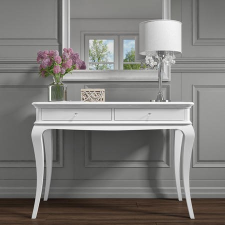 Florentine French Style Dressing Table in White