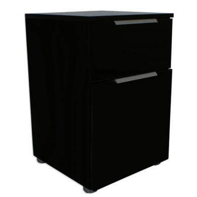 Billi  Black High Gloss Bedside Table