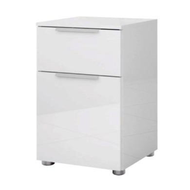 Billi Joy White High Gloss Bedside Table