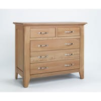 Robin Solid Oak 3+2 Drawer Chest