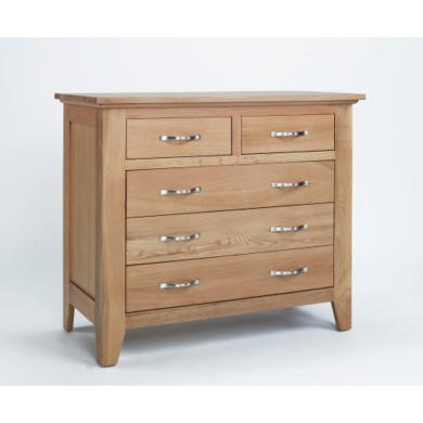 FOL000014 Robin Solid Oak 3+2 Drawer Chest