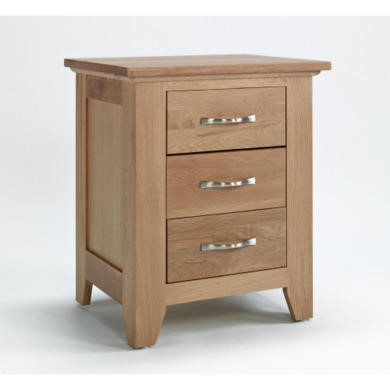 FOL000017 Robin Solid Oak 3 Drawer Bedside Table