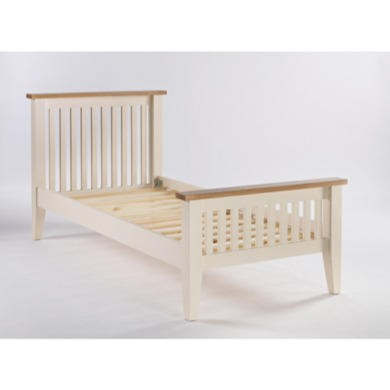 Dove 3ft Standard Single Bed Frame In Ivory and Ash