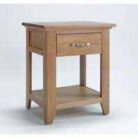 Robin One Drawer Lamp Table In Solid Oak