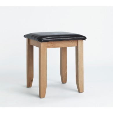 FOL000050 Robin Solid Oak Dressing Table Stool