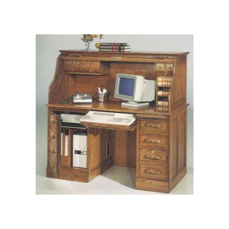 Colonial Oak Roll Top Computer Desk Furniture123