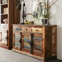 FOL00427 Coastal Reclaimed Wood Large Sideboard