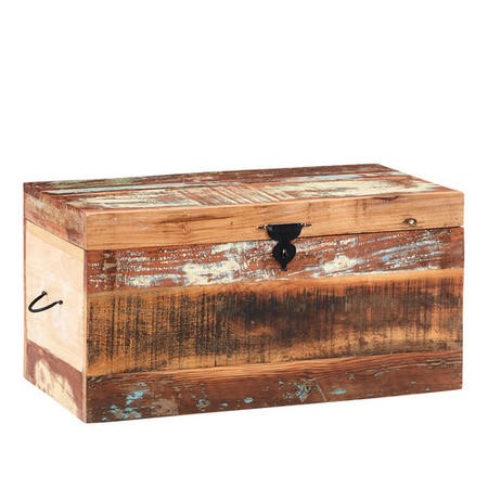 Coastal Reclaimed Wood Trunk Box Coffee Table