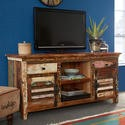 FOL00430 Coastal Reclaimed Wood TV Multi Media Unit