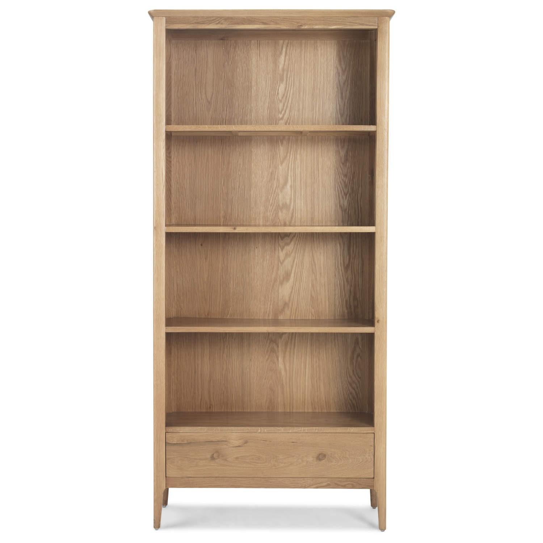 Skien Solid Oak Large Bookcase
