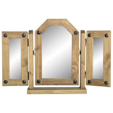FOL008266 Seconique Original Corona Pine Triple Swivel Mirror