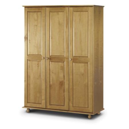 Julian bowen pickwick pine 3 door wardrobe furniture123 for Furniture 123 wardrobes