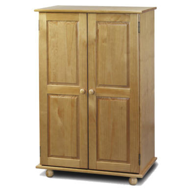 Julian Bowen Pickwick Solid Pine Short Wardrobe Furniture123