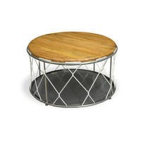 Signature North Round Rope Table w Storage Inside
