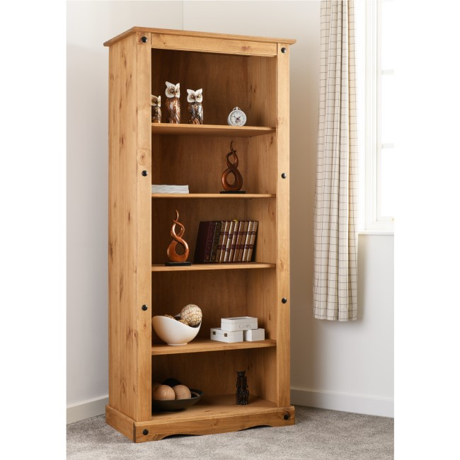 Seconique Original Corona Pine Tall Bookcase